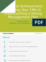 culture of achievement creating your management plan fy16
