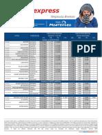 Tarifario Montevideo Hasta 30 Sep 16