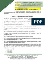 Campeonato Brasileiro de Estilos 2016 - Regulamento