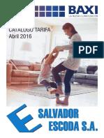 Catalogo Tarifa BAXI 2016