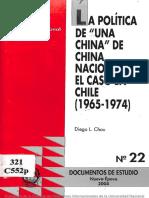 CHINA DE CHINA NACIONALISTA EL CASO EN CHILE (1965-1974)