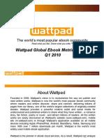 Wattpad Global eBook Metrics Report Q1 2010