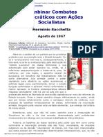 Sacchetta_ Combinar Combates Democráticos Com Ações Socialistas