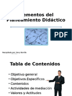 Elementos Del Planeamiento Didactico