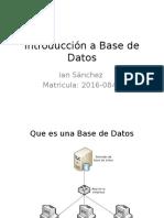Introducción a Base de Datos