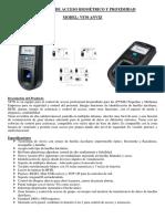 Caracteristicas Control Biometrico Marzo-2016