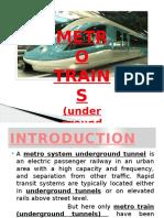 Metro Train Ppt
