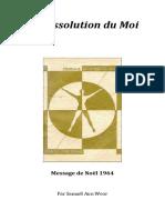 1964 La Dissolution Du Moi