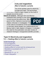 Topic 5.2 - Heating Effect of Electric Currents