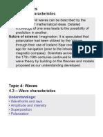 Topic 4.3 - Wave Characteristics