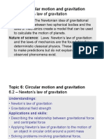 Topic 6.2 - Newtons Law of Gravitation