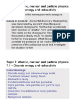 Topic 7.1 - Discrete Energy and Radioactivity