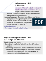Topic 9.2 - Single-slit Diffraction - AHL