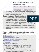 Topic 11.1 - Electromagnetic Induction - AHL
