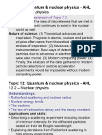 Topic 12.2 - Nuclear Physics - AHL