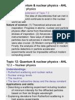 Topic 12.2 - Nuclear Physics - AHL