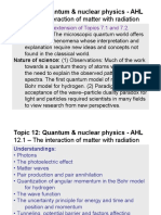 Topic 12.1 - The Interaction of Matter With Radiation - AHL