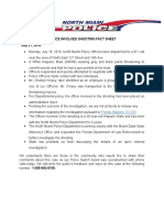 Fact Sheet-police Involved Shooting