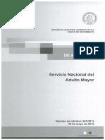 Informe de Seguimiento 963-15 Servicio Nacional Del Adulto Mayor Auditoria Al Programa Fondo Subsidio Establecimientos de Larga Estadia Adulto Mayor - Mayo 2016
