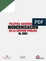 Politica Nacional de Modernizacio de La Gestion Publica