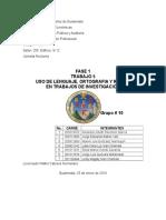 5ti Uso de Lenguaje Ortografia y Redaccion en Trabajos de Investigación