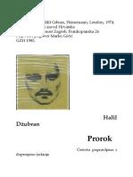 HALIL DZUBRAN, PROROK