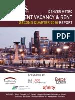 2016 Q2 Denver Metro Area vacancy and apartment rent report