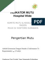 Indikator Mutu-Forum Mutu Bimtek 2016