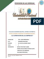 Supervision en Las Empresas