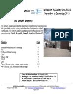 Network Academy Courses Sept Dec 13