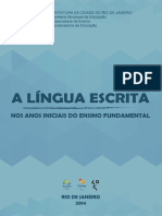 A Língua Escrita Nos Anos Iniciais Do Ensino Fundamental