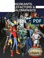 Savage Worlds Miscreants Malefactors and Megalomaniacs (7269300)