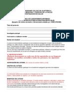 Guia Modelo de Consentimiento Informado de Una Investigacion Medica