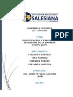 Evaluacion e Identificacion de Riesgos de La Empresa Compuauto