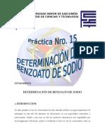 Determinacion de Benzoatos