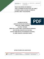 Informe de Gestion Mensual Upi (Tachira) Junio 2016