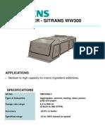 7MH7400 SIEMENS WEIGHFEEDER - SITRANS WW300