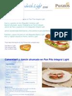 Recetario Sandwich Light