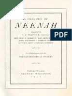 A History of Neenah-1958