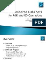 EDRM VI Kickoff Meeting Data Set Project Presentation