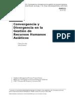 Convergencia y Divergencia - Recursos Humanos Asiaticos