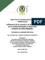 Influencia de La Ciencia y La Tecnología en El Comportamiento y Desarrollo Humano en Villa Mazatán.