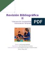 Revisión Bibliográfica Estimulación Temprana