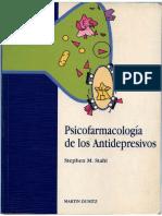 Psicofarmacología de Los Antideprevisos. Stephen Stahl.