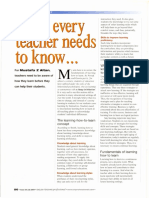 What Every Teacher Needs to Know_ETP_Issue33_July 2004