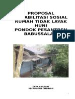 Proposal Rutilahu Babusslm 2016