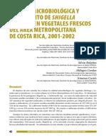 TESIS, Aislamiento de Shigella en Vegetales Frescos Mexico 2011