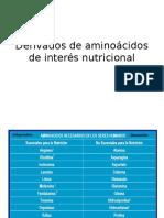 URP Derivados de Aminoácidos de Interés Nutricional