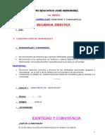 Id. y Convivencia Secuencia Didactica Nº 1 - 1er Grado-2016