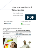An Interactive Introduction to R for Actuaries Pre-meeting